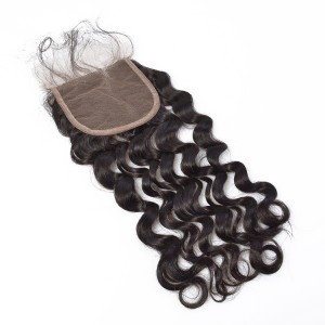 4*4 Mink Human Virgin Hair Ideal Lace Human Closure Hair Deep Wave
