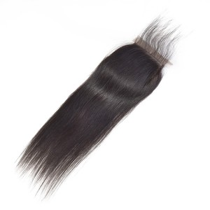 4*4 Mink Human Virgin Hair Ideal Lace Human Closure Hair Straight