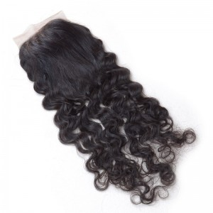 Silky Lace Closure 5A Curly Wave Virgin Hair and Soft