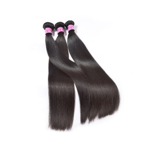 Malaysian Hair Straight Unprocessed Virgin Hair For 3 Bundles