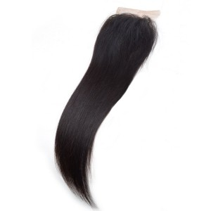 100% Vrirgin Hair Straight Free Part Lace Closure Real Human Hair 4×4