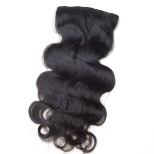 body wave clip in hair