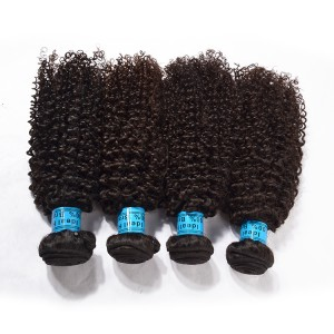 100%Human Virgin Hair With The Package For 5 Bundles Kinky Curly Wave Hair.