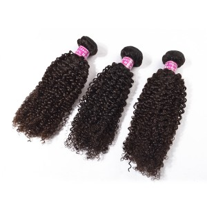 Malaysian Hair Kinky Curly Style For Nlack Women 100% Unprocessed Wholesale Virgin For 3 Bundles