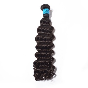 Top Selling Brazilian Hair Weft,Deep Wave Hair,The Best Virgin Hair For 1 Bundles