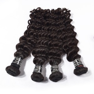 The 5 Bundles Raw Virgin Indian Human Hair Vendors Wholesale Price Human Hair Deep Wave