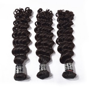 Hot Sale New Raw Unprocessed Vrigin Indian Deep Wave Hair 3 Bundles