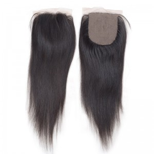 4x4 Silky Lace Closure5A Straight Virgin Hair