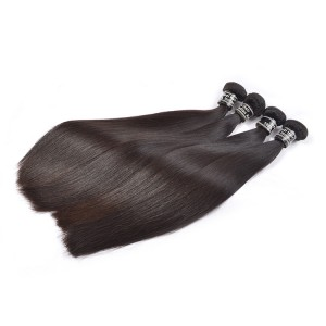5 Bundles For Wholesale Natural Color Straight Indian Human Hair, Stock Human Hair
