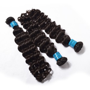 Top Selling Brazilian Hair Weft,The 100% Human Hair,Deep Wave Hair For 3 Bundles Package.