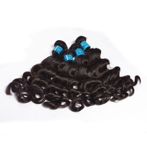 The 100% Human Hair 6A Loose Wave Virgin 3 Bundle Can Be Dyed