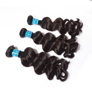Unprocessed Brzilian Hair 6A Loose Wave Birgin 1 Bundle Can Be Dyed