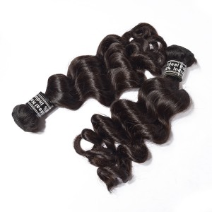 Indian Loose Wave Virgin Human Hair Weave For 1 Bundle
