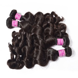 Malaysian Human Hair Products Loose Wave Style 6A Super Quality Overnight Hair