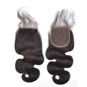 4*4 Mink Human Virgin Hair Ideal Lace Human Closure Hair Body Wave