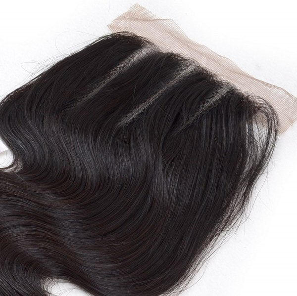 three part lace closure